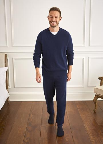Men's Cashmere V Neck Jumper